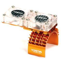Integy Hobby RC Model T8534ORANGE Motor Heatsink + Twin Cool