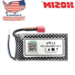 Hosim 7.4V 25C 2S 1600mAh Li-Po Rechargeable Battery Pack Fo