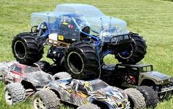 HUGE 1/5th RAMPAGE MT PRO V3 Gas Powered RC Monster Truck 4X