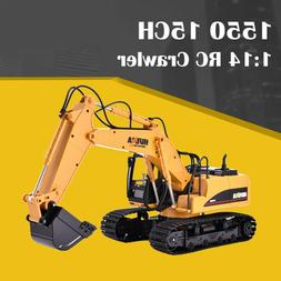 HUINA 1550 1:14 RC Crawler Car 15CH 2.4G RC Metal Excavator