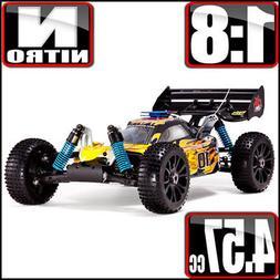 Redcat Racing Hurricane XTR 1/8 Scale Nitro RC Buggy Car Yel