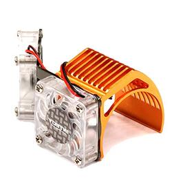 Integy RC Hobby 2961ORANGE Twin Motor Cooling Fan + Heatsink