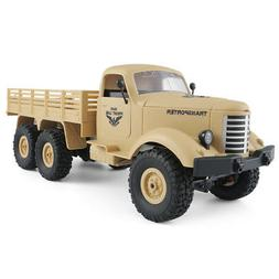 JJRC Q60 1/16 2.4G 6WD Off-Road Military Truck Crawler RC Ca