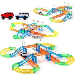 Kids Electric Toy Car Flexible Variable Track Set Toy Car Ra