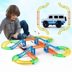 Kids Electric Toy Car Variable Track Set Toy Car Racing Game