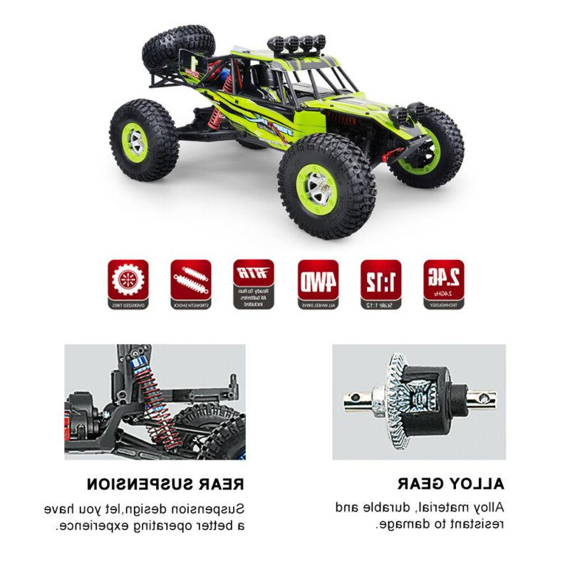 Ready To Run 1/12 2.4G Cars Rock Crawler Climber Fast Racing