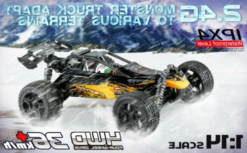1:14 4WD RC Remote 36km/h High Speed Racing Vehicle
