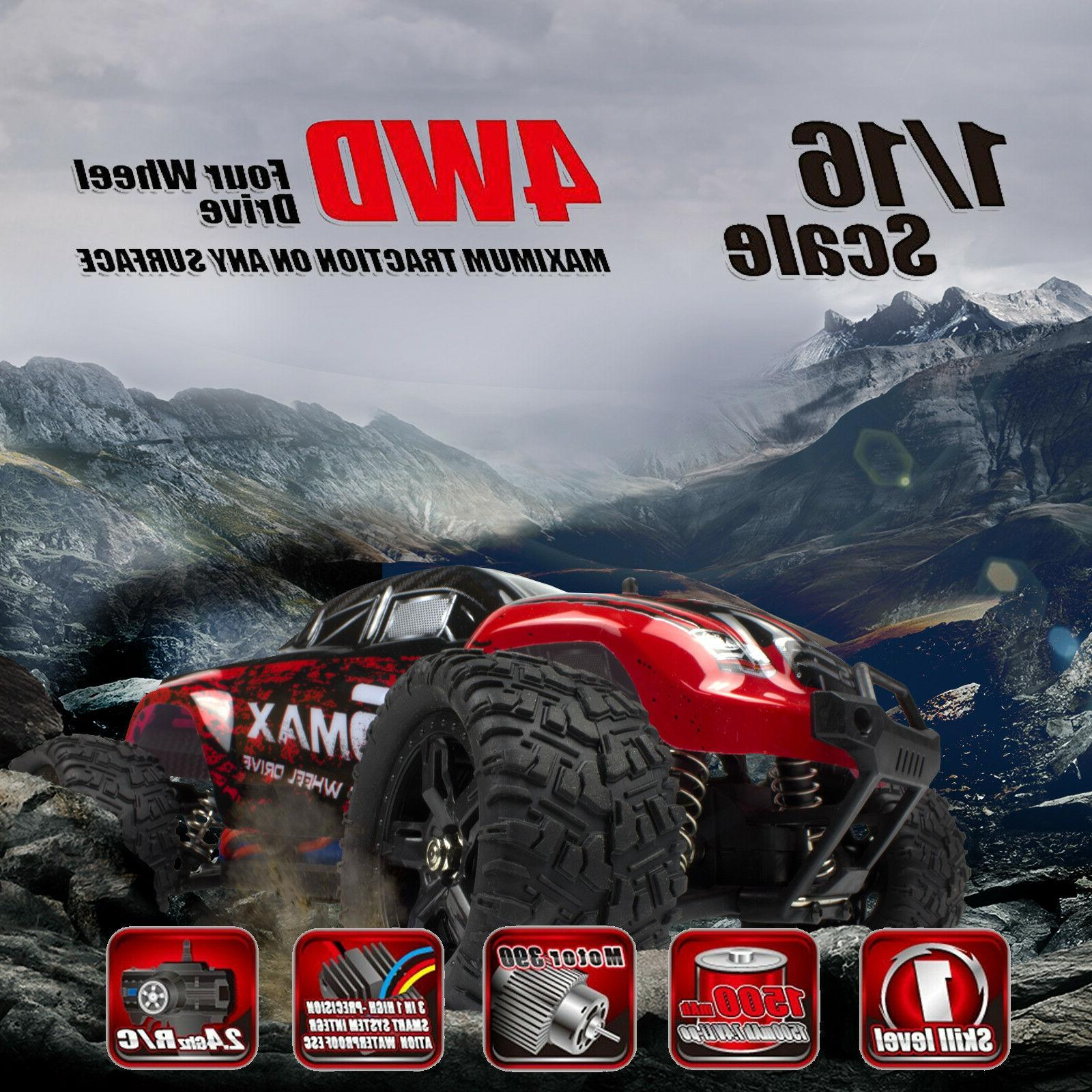 REMO RC Monster Truck 2.4Ghz Bushed Car Red