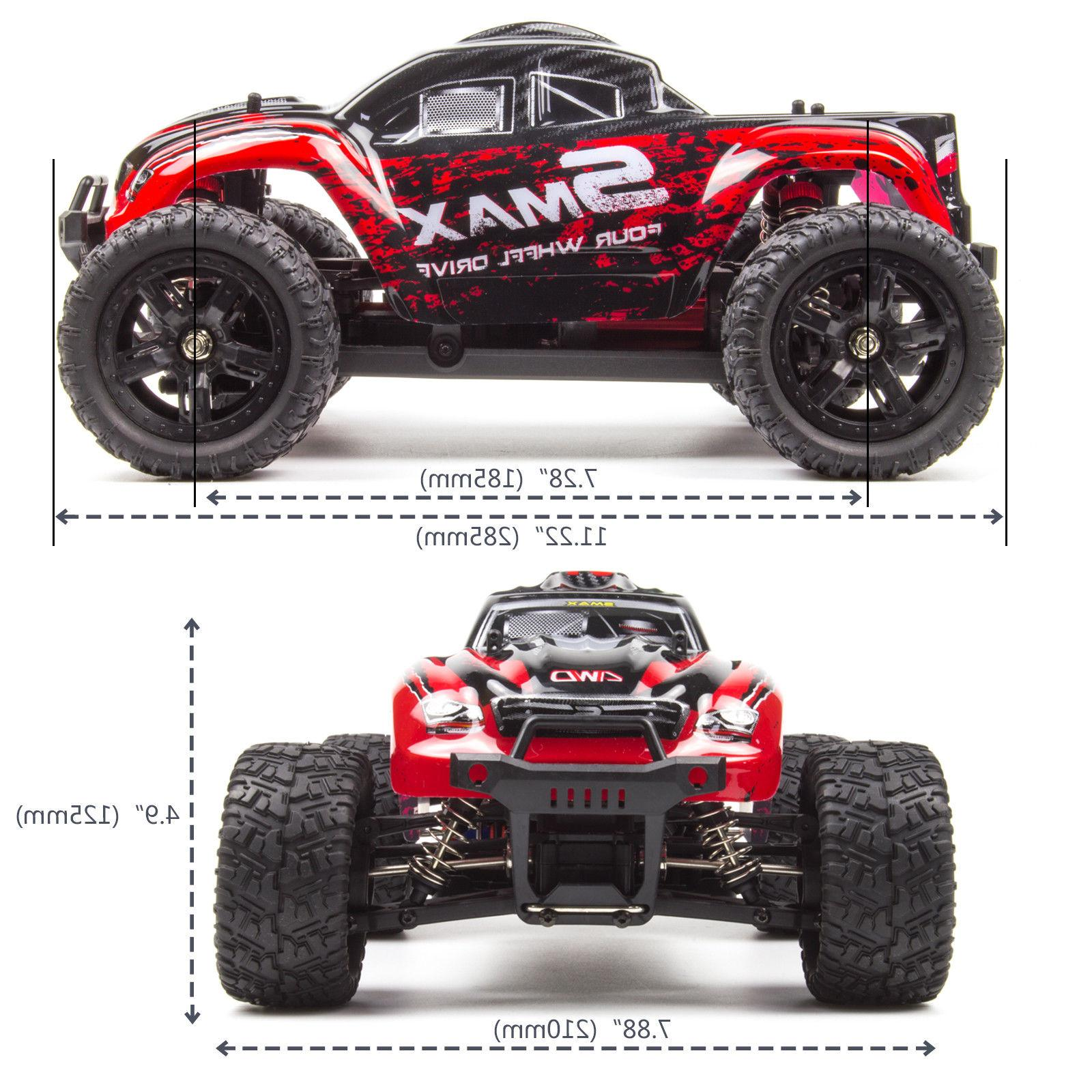 REMO Truck 4WD 2.4Ghz Bushed Remote Control Red