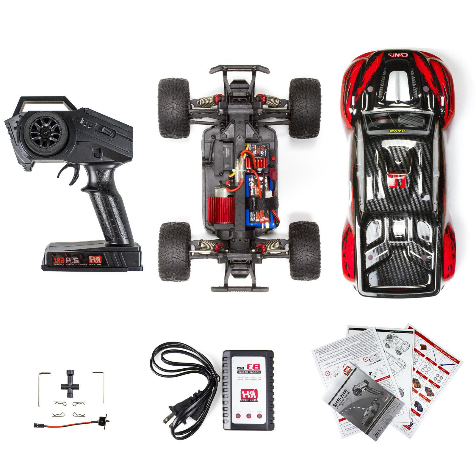 REMO 1/16 Truck Off-Road Bushed Remote Car Red