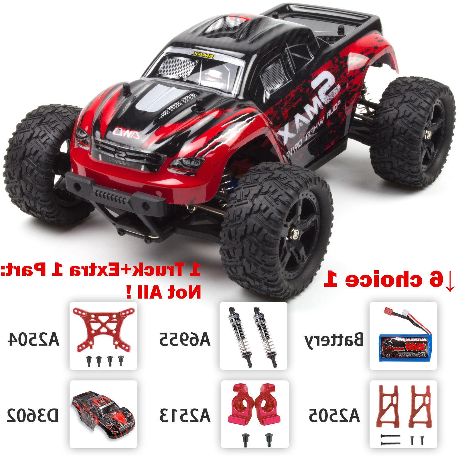 REMO RC Monster Truck 4WD Bushed Remote Red