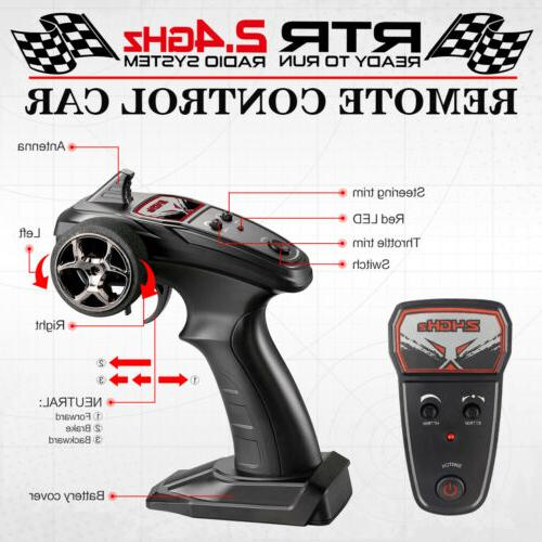 1:14 Remote Control 36km/h High Speed Racing Vehicle