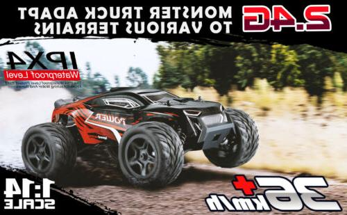 1:14 Scale RC Car 4WD Remote Control Monster Truck High Speed Off Road US