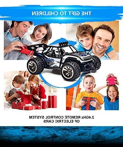 Distianert Remote Control 20Mph High Speed Monster Truck with 2 Recharger Kids,