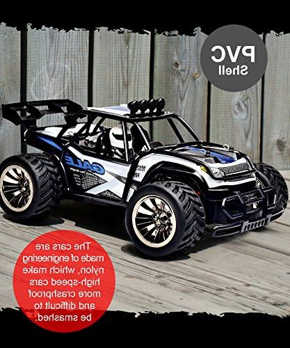 Distianert 2.4Ghz 20Mph Speed Racing Monster Truck 2 Recharger Battery-Best Gift for Kids,
