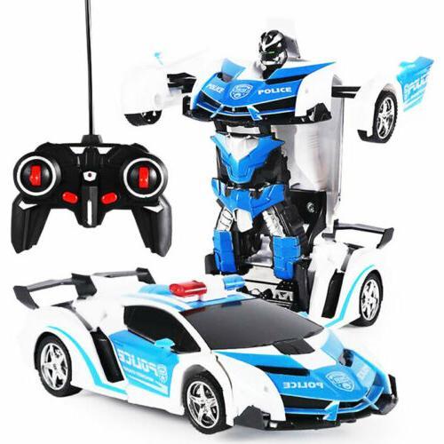 Kids Toy Transformer RC Robot Sports Car Radio Control Car B