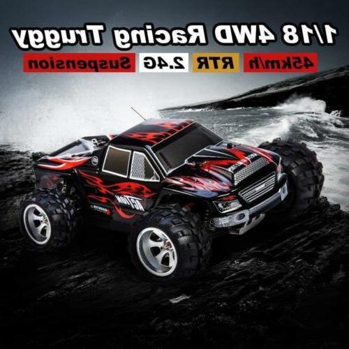 Distianert 1:18 Scale Electric RC Car 4WD 2.4Ghz Radio Contr