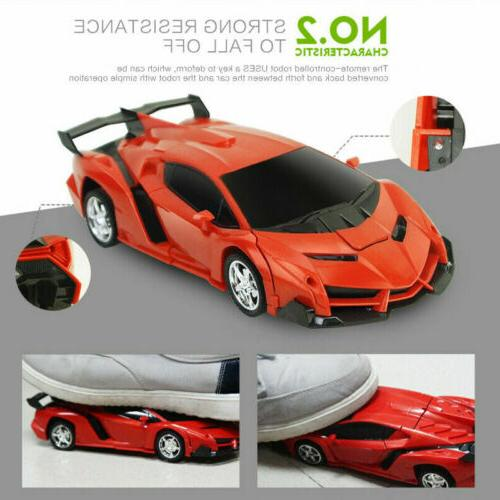1:18 Transformer Robot Car 2 IN Toy B-Day Gift US