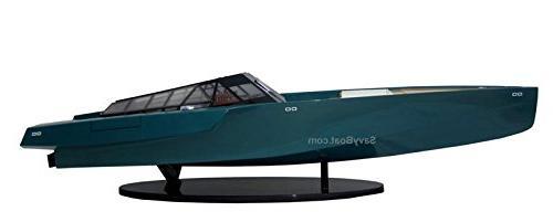 118 Wally Power Luxury Motor Yacht Wooden Race Boat Model RC