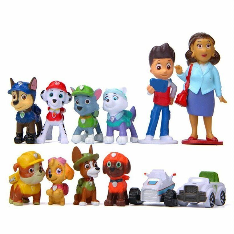 12 PCS Paw Patrol Toys Action Figure Cak
