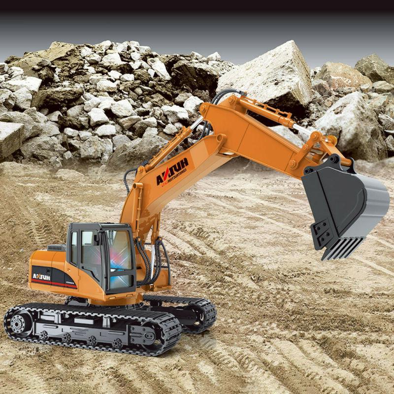 Alloy Excavator Engineering Vehicle RC Car HuiNa Toys 1/14 2