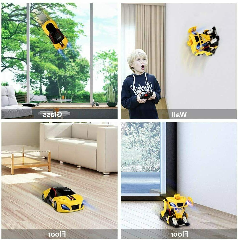 2In1 RC Car Wall Climbing Stunt Remote Car Toys