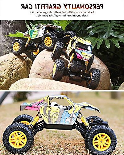 DOUBLE 1:18 Dual Motors Rechargeable Remote Off RC Rock