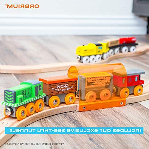 56 Piece Wooden Train Track Expansion Pack