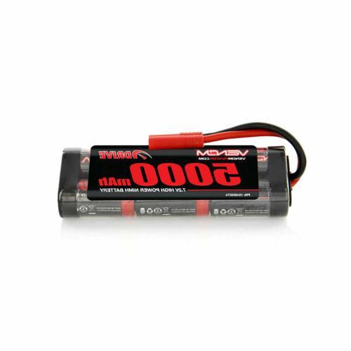 Venom 7.2V 5000mAh 6 Cell NiMH Battery with HXT 4.0mm Plug R