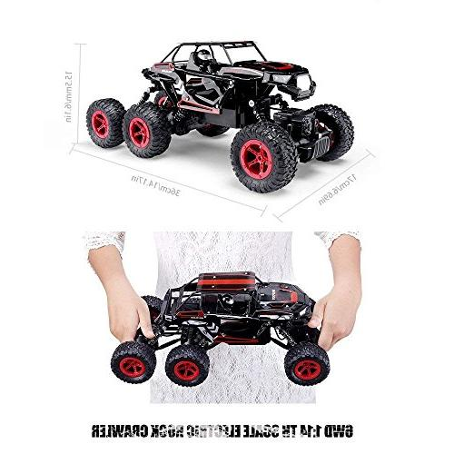 Hosim 6WD Rock Crawler, High Speed Off All-Terrain Climbing Car