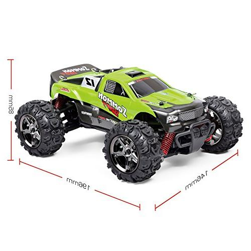 TOZO Sommon 30Mph 4x4 Fast Cars1: Power Remote Road Cross Country Powersport Green