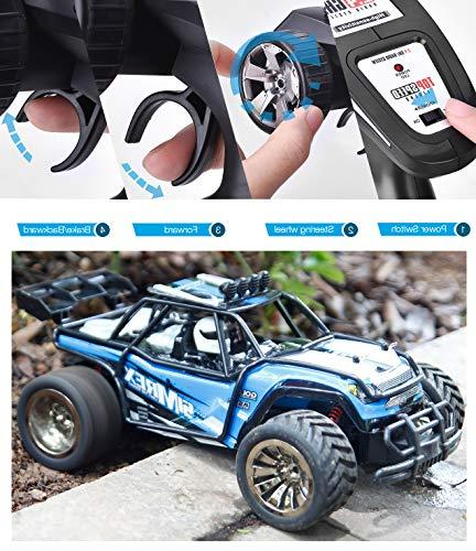 SIMREX A130 High Speed Scale RTR Control Monster Car 2WD Electric W/2.4G Challenger Blue
