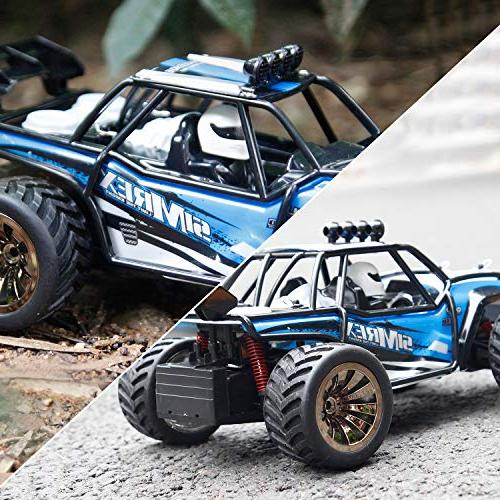 High Speed 20Mph RTR Remote Control Monster Truck Car Foot 2WD Power Buggy W/2.4G Challenger Blue