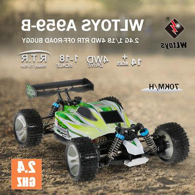 US WLtoys A959-B 1/18 4WD Off-Road RC RTR Toys