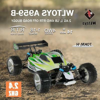 WLtoys 2.4G 4WD 70KM/h Electric RTR Off-road Car Toys