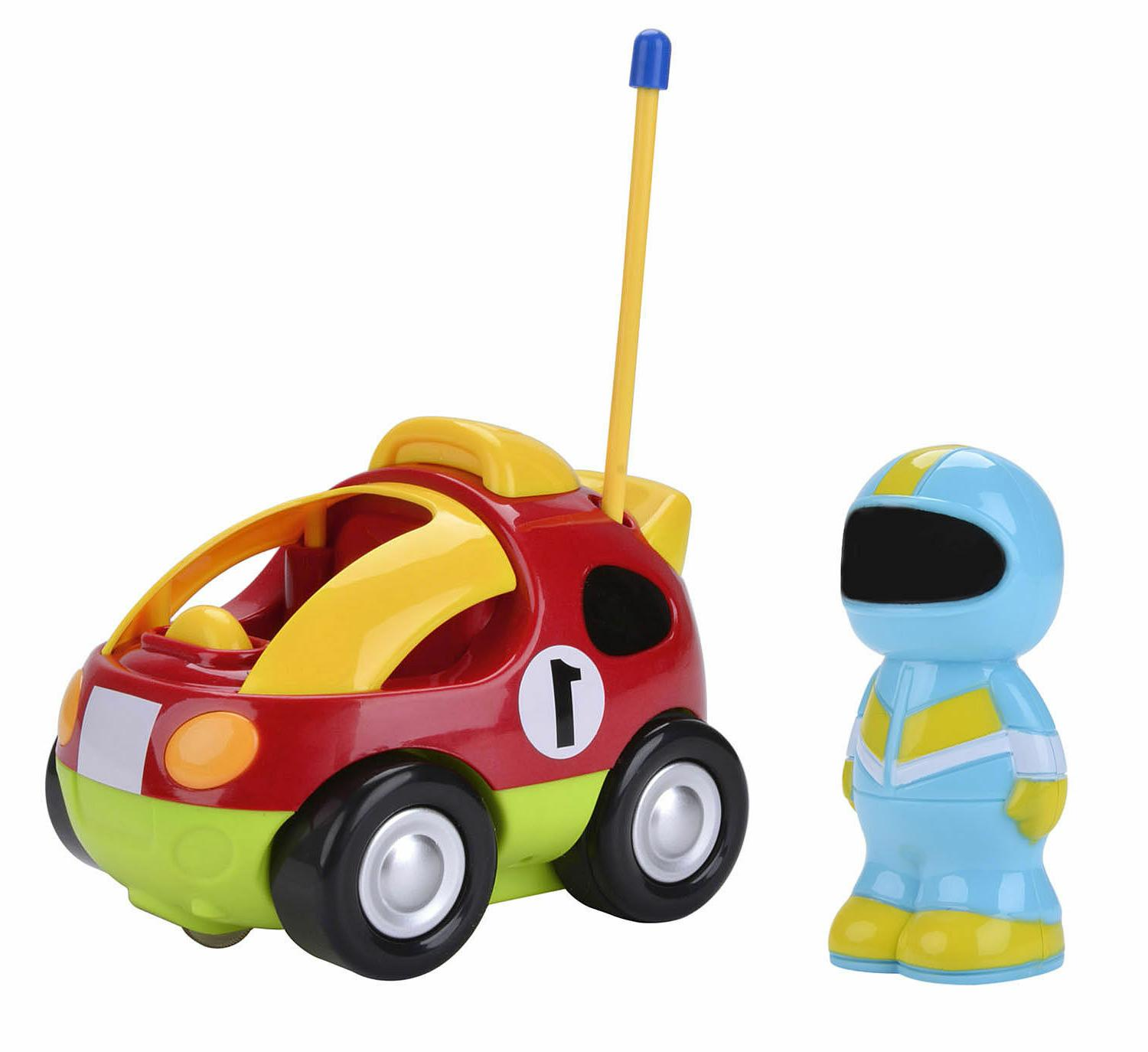 Cartoon Train Car with Music and Radio Control Toddlers Kids