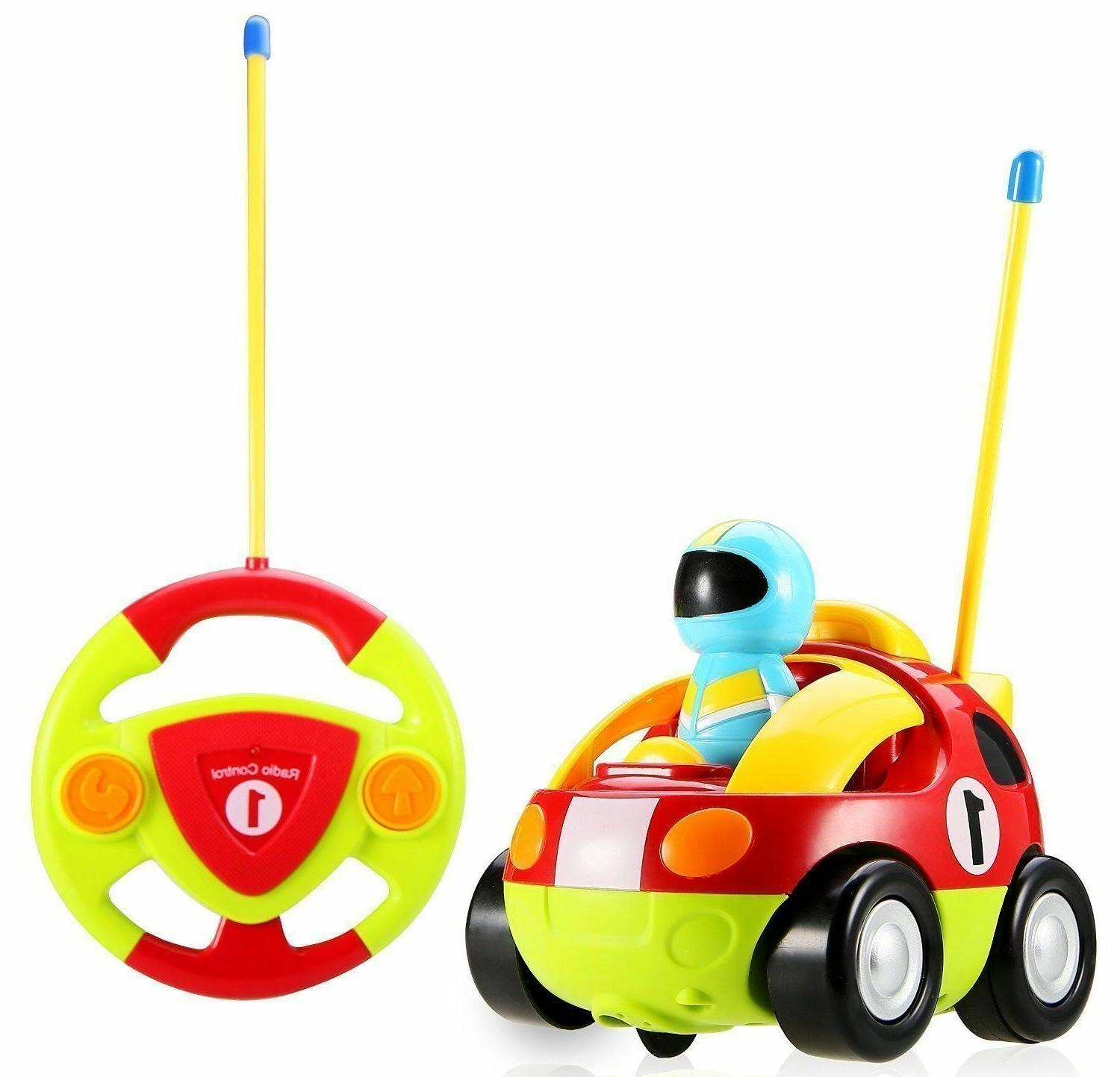 Cartoon RC with Music and Lights Radio Toy Toddlers