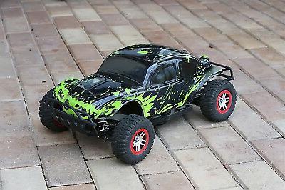 Custom Body Muddy Green for Traxxas Slash 1/10 Shell Baja Bu