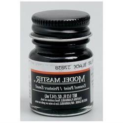 FLAT BLACK  1/2 oz Enamel Paint Bottle - Testors - 756111749