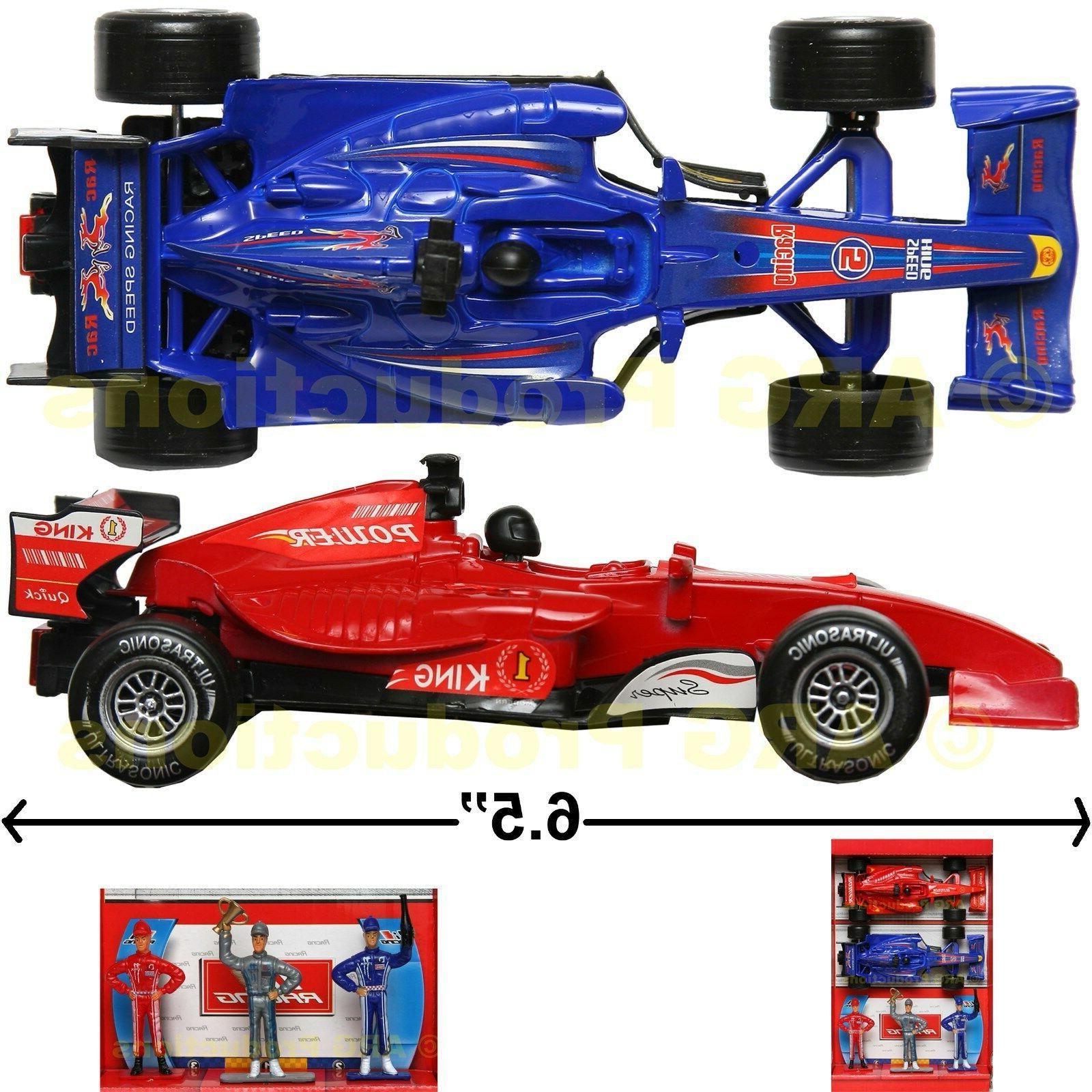 FORMULA 1 RACING CAR TOY SET OF 2  F1 TRACK RACE FIGURINE LI