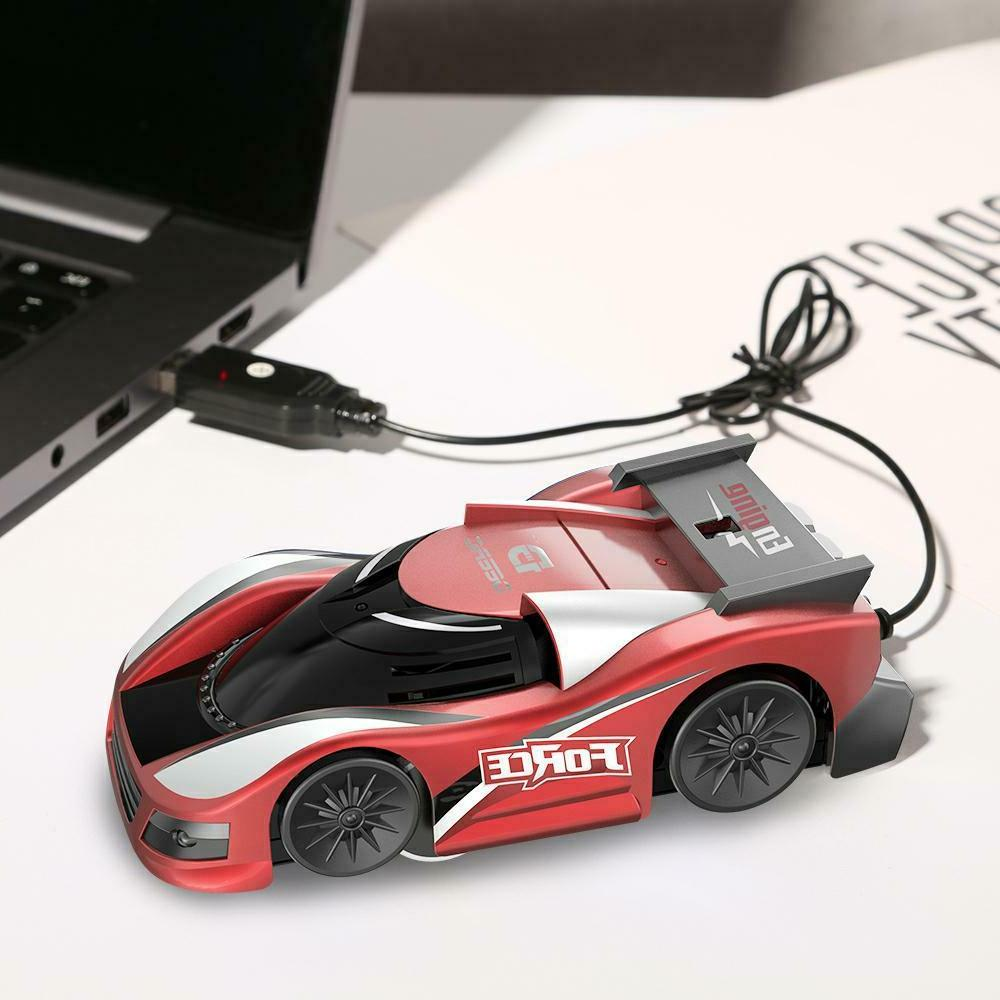 Wall Climbing RC Car LED Stunt Toys