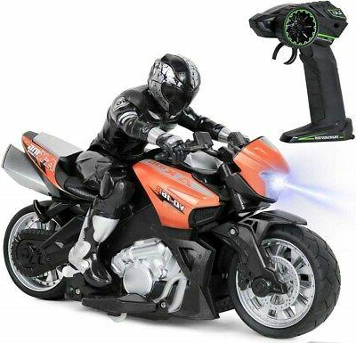 high speed rc remote control motorcycle riding