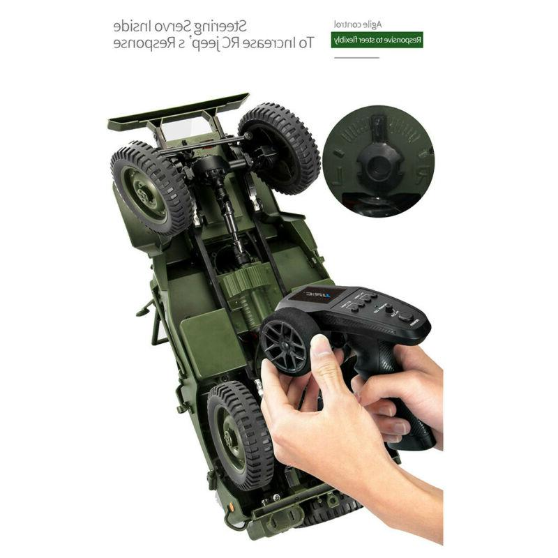 CES JJRC 1/10 Rc Military Truck Rock Crawler Off-Road Vehicle