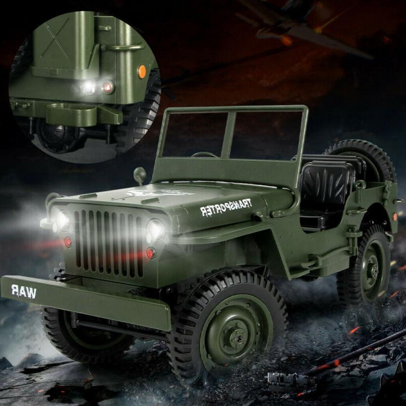 CES Q65 2.4G 1/10 Car Military Truck Rock Crawler 4WD Off-Road Vehicle