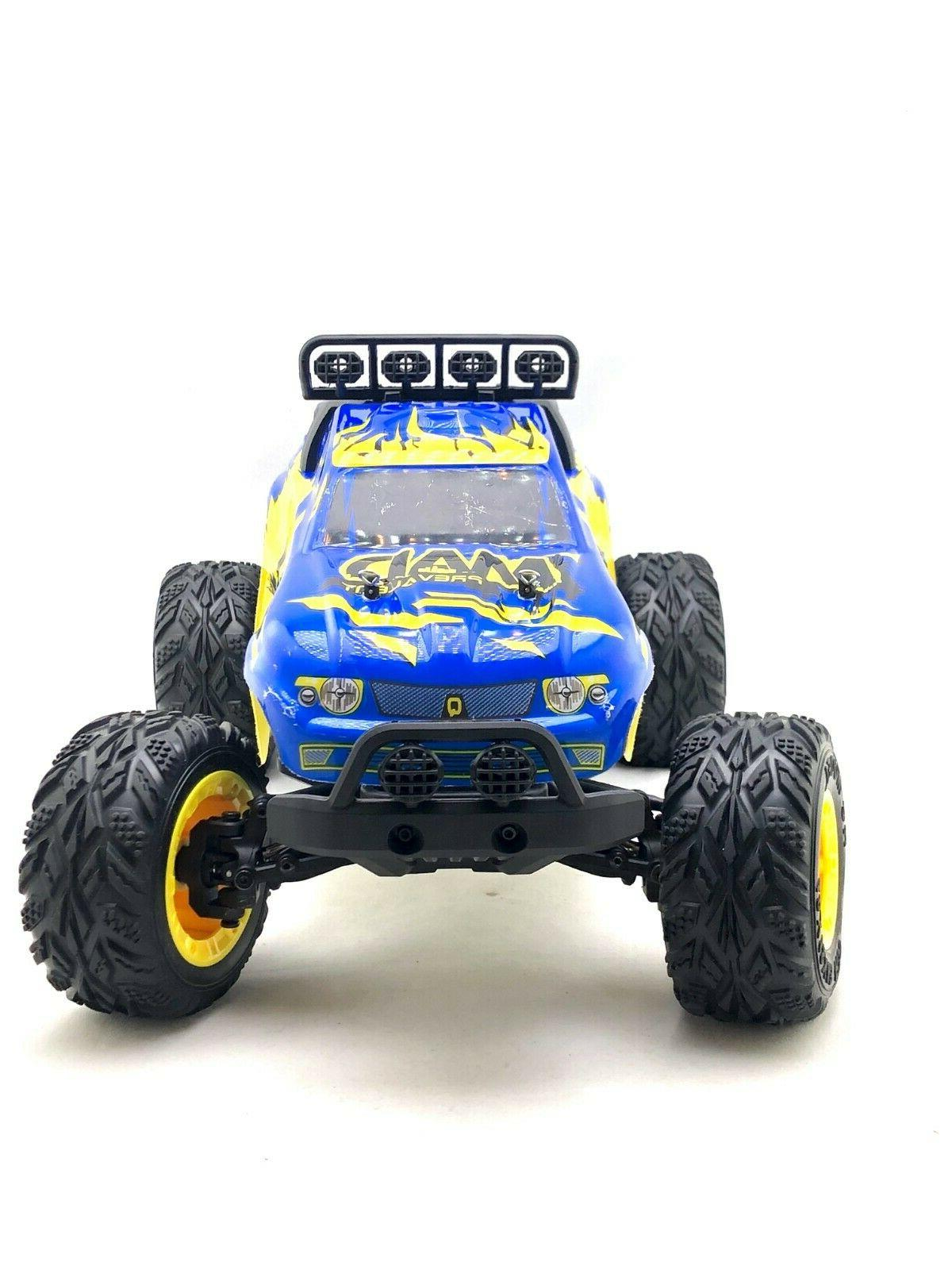 JJ R/C Mad 1/12th Scale Electric RC Blue TRUCK