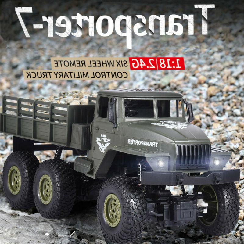 RC Car 2.4G 1/18 4WD Transporter-7 Brushed Military Truck Of