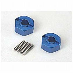 Lightweight Blue-anodized Aluminum Hex Wheel hubs & axle pin
