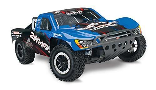 Traxxas Nitro Slash: 2WD Short Course Racing Truck with TQi 2 4 GHz Radio &  TSM , Blue
