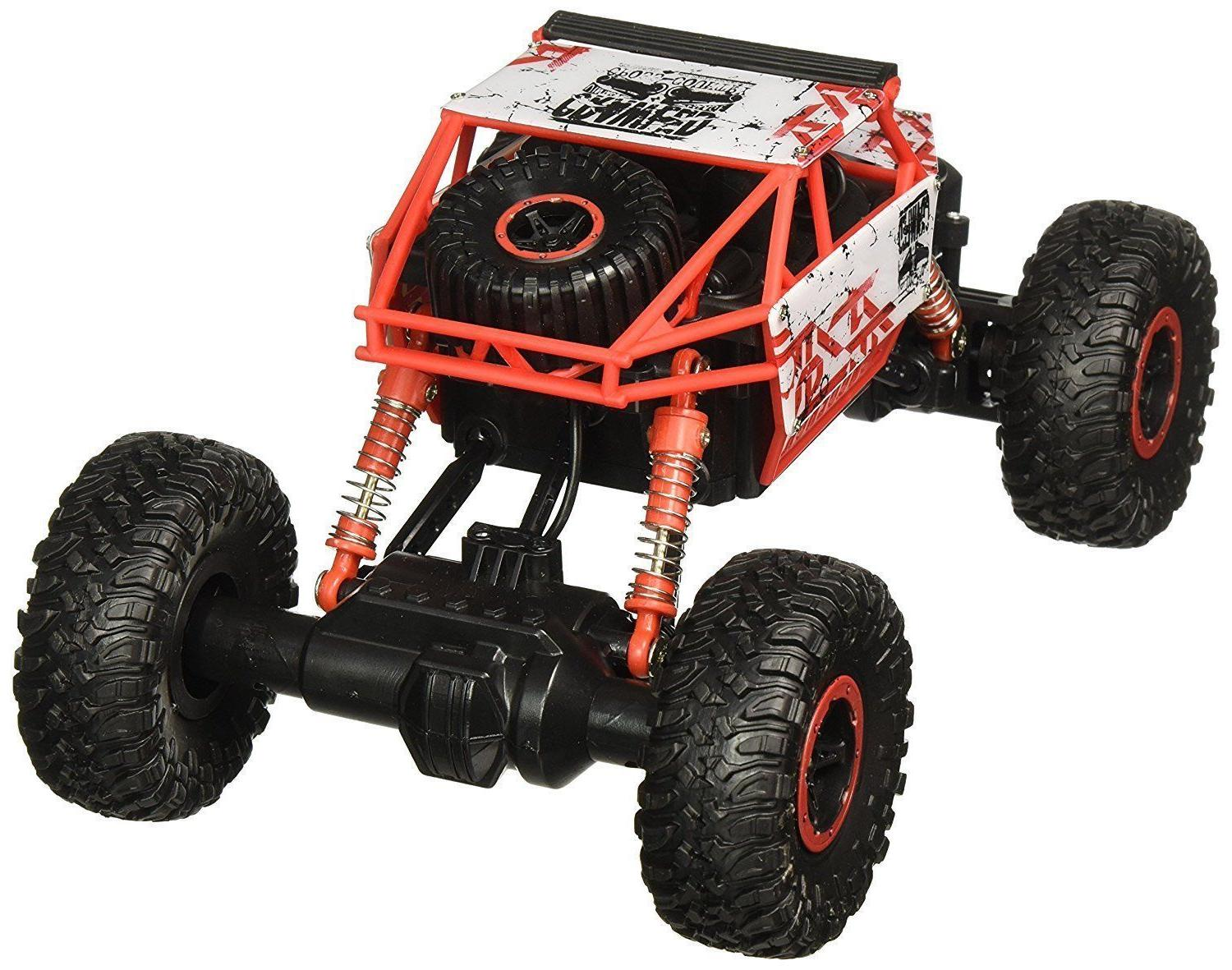 NWOB Click N Rock Crawler RC Car Red Vehicle
