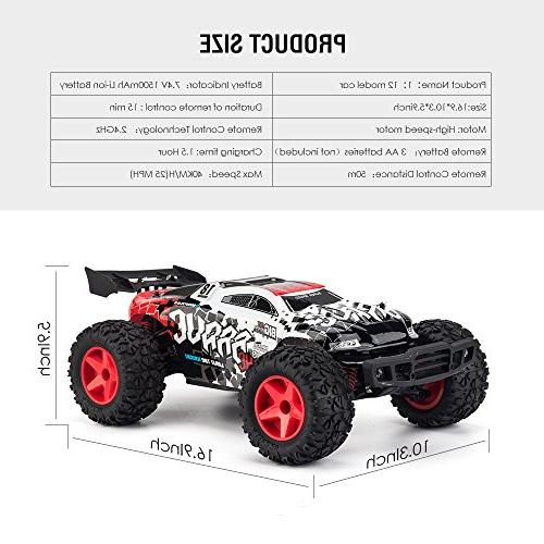 KOOWHEEL Car, 4WD Control 2.4Ghz Racing Truck 30MPH Buggy Race, for Kids and Adults